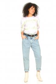 Set | High waist broek Ruby | blauw   | Afbeelding 2