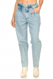 Set | High waist broek Ruby | blauw   | Afbeelding 7