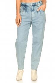 Set | High waist broek Ruby | blauw   | Afbeelding 6