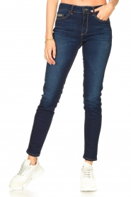 Liu Jo Denim |  Skinny stretch jeans Kimberly | dark blue  | Picture 5