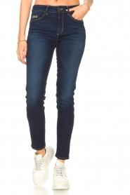 Liu Jo Denim |  Skinny stretch jeans Kimberly | dark blue  | Picture 4