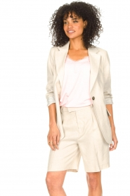 Set |  Linen short Riley | beige  | Picture 4