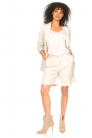 Set |  Linen short Riley | beige  | Picture 3