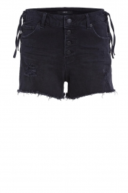 Set |  Jeans short with ribbed details Isis | black  | Picture 1