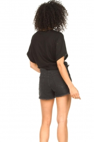 Set |  Jeans short with ribbed details Isis | black  | Picture 5