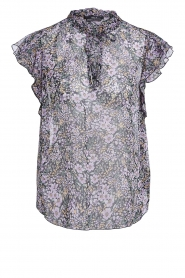 Set |  Floral ruffle top Riva | black  | Picture 1