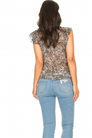 Set :  Floral ruffle top Riva | black - img6