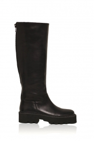 Nubikk |  High leather boots Fara Zip | black  | Picture 1