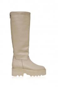 Nubikk | Hoge leren laarzen Fara Zip | naturel  | Afbeelding 1