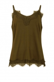 CC Heart |  Top with lace Puck | green  | Picture 1