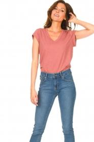 CC Heart |  V-neck T-shirt Vera | pink  | Picture 4
