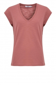CC Heart |  V-neck T-shirt Vera | pink  | Picture 1