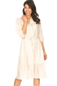 Set |  Midi dress with crepe effect Rosa | natural  | Picture 4