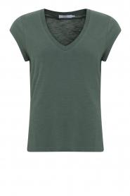 CC Heart |  V-neck T-shirt Vera | green  | Picture 1