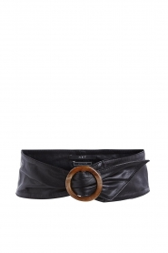 Set |  Leather waistband Inaya | blacl  | Picture 1