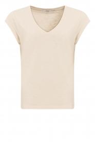CC Heart |  V-neck T-shirt Vera | beige  | Picture 1