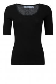 CC Heart | Zijden T-shirt CCH1108 | zwart  | Afbeelding 1
