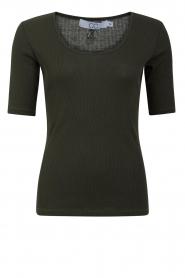 CC Heart |  Silk T-shirt CCH1108 | green  | Picture 1