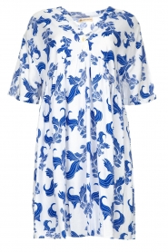 Genesis |  Dress with print Ema | white  | Picture 1