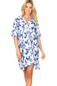 Genesis |  Dress with print Ema | white  | Picture 4