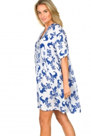 Genesis |  Dress with print Ema | white  | Picture 5