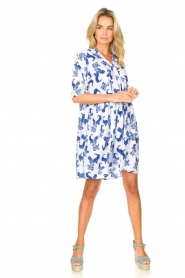 Genesis |  Dress with print Ema | white  | Picture 3