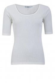 CC Heart |  Silk T-shirt CCH1108 | white  | Picture 1