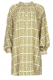 Genesis |  Dress with graphic print Sofia | green  | Picture 1