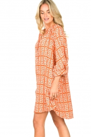 Genesis |  Dress with graphic print Sofia | orange  | Picture 6