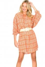 Genesis |  Dress with graphic print Sofia | orange  | Picture 2