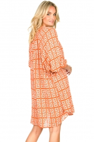 Genesis |  Dress with graphic print Sofia | orange  | Picture 7