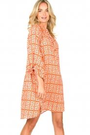 Genesis |  Dress with graphic print Sofia | orange  | Picture 5