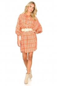 Genesis |  Dress with graphic print Sofia | orange  | Picture 3