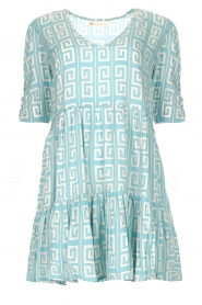 Genesis |  Dress with graphic print Kelly | blue  | Picture 1
