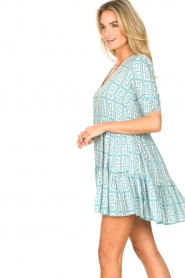 Genesis :  Dress with graphic print Kelly | blue - img6