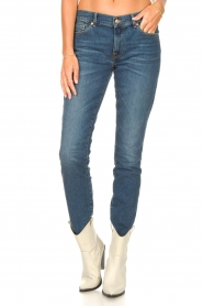7 For All Mankind | Skinny jeans Roxanne | donkerblauw  | Afbeelding 4