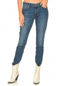 7 For All Mankind | Skinny jeans Roxanne | donkerblauw  | Afbeelding 5