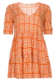 Genesis |  Dress with graphic print Kelly | orange  | Picture 1