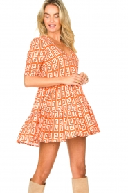 Genesis |  Dress with graphic print Kelly | orange  | Picture 4