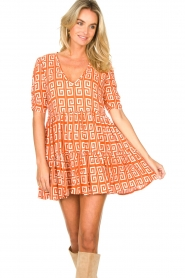 Genesis |  Dress with graphic print Kelly | orange  | Picture 2
