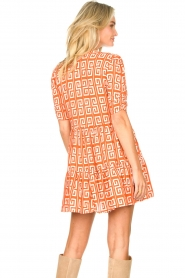 Genesis |  Dress with graphic print Kelly | orange  | Picture 7