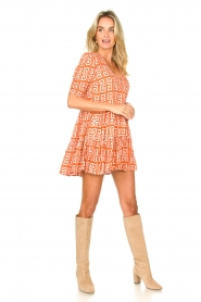 Genesis |  Dress with graphic print Kelly | orange  | Picture 3