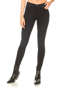 7 For All Mankind |  High waist skinny jeans Slim Illusion | black  | Picture 5