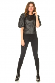 7 For All Mankind |  High waist skinny jeans Slim Illusion | black  | Picture 2
