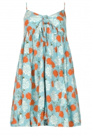 Genesis |  Dress with floral print Julia | blue  | Picture 1