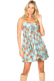 Genesis |  Dress with floral print Julia | blue  | Picture 2