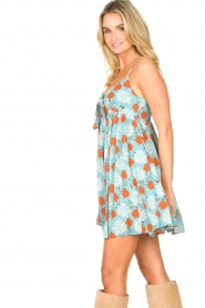 Genesis |  Dress with floral print Julia | blue  | Picture 6