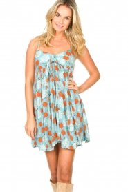 Genesis |  Dress with floral print Julia | blue  | Picture 5