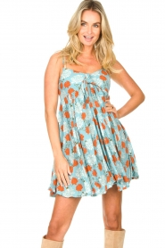 Genesis |  Dress with floral print Julia | blue  | Picture 4