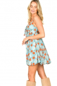 Genesis |  Dress with floral print Julia | blue  | Picture 7